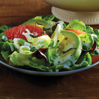 Butter Leaf Salad with Grapefruit, Avocado & Buttermilk Yogurt Dressing