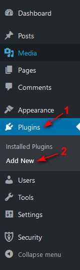 Tùy chọn Plugin trong Dashboard