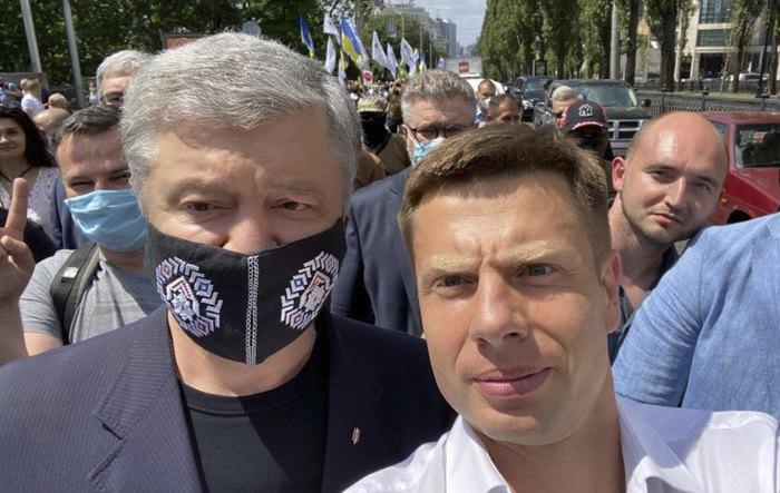 Алексей Гончаренко и Петр Порошенко