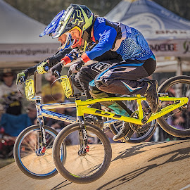 Close Racing by Paul Milliken - Sports & Fitness Cycling ( racing, batemans bay bmx, australia, bmx )