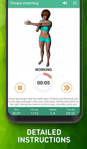 Warmup exercises - flexibility training screenshot