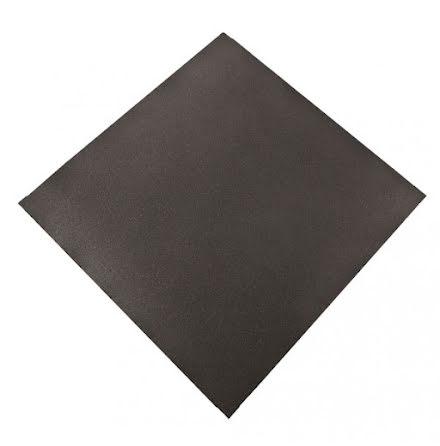 Gummigolv raka kanter 40mm, svart 1x1m