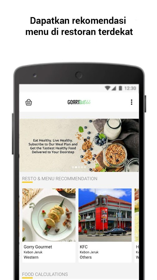 GorryWell: Healthy Food Delivery & Nutrition Coach- screenshot