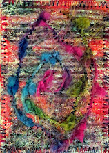 Photo: carton ondulé_2015 ATC - Art Trading Card