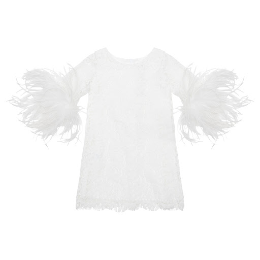Primary image of Charabia Lace & Feather Dress