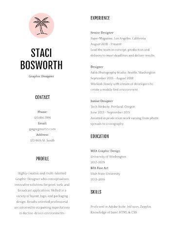 Staci M. Bosworth - Resume Template