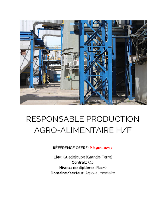 2019 - RESPONSABLE PRODUCTION HF PJ1901-0217
