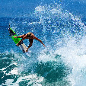 Grab rail by Julie Steele - Sports & Fitness Surfing ( steele, surfer, air, grab rail )