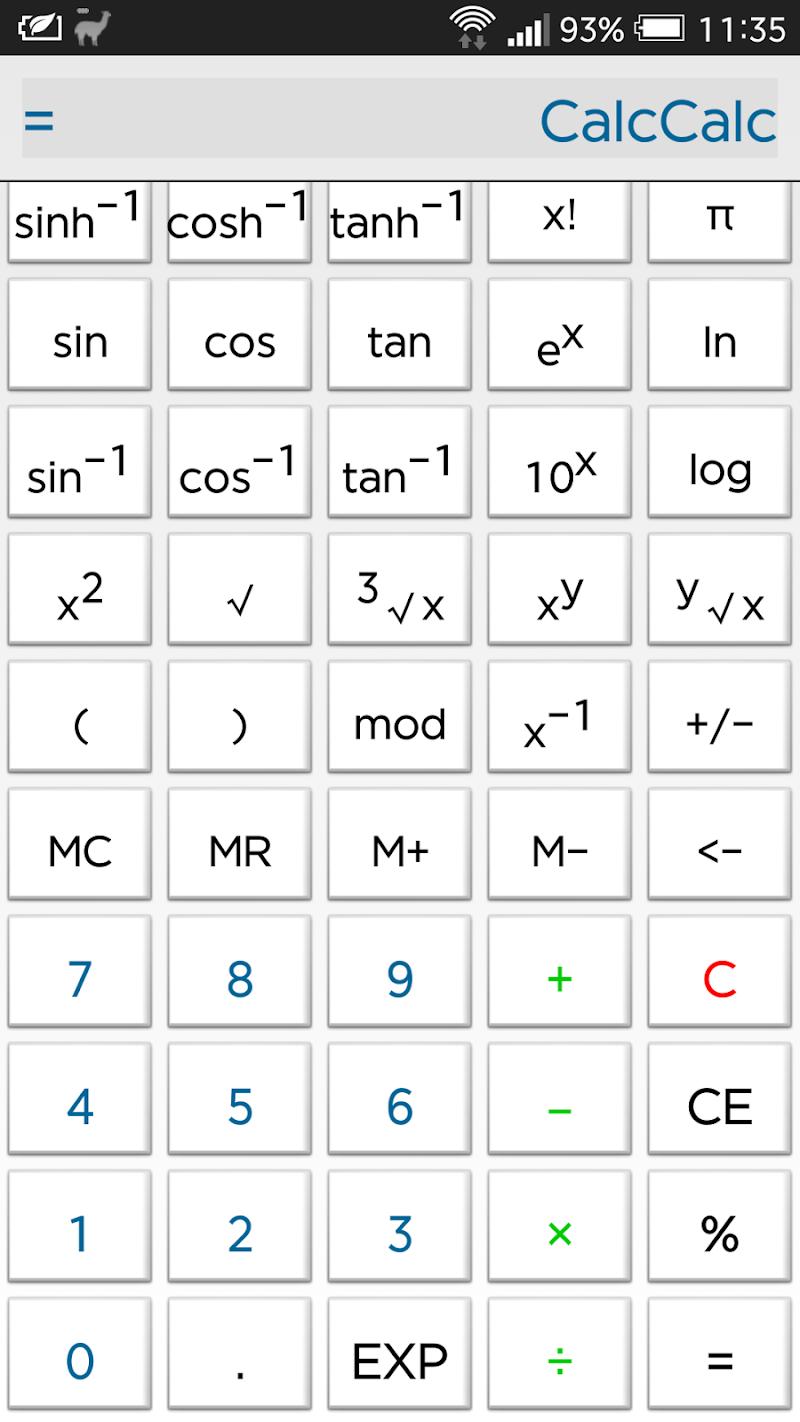 Скриншот CalcCalc