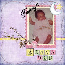 """Photo: Quick page template designed by Ellie Lash """"Dreaming About Baby.""""   Scrapbook page created July 9, 2009"""