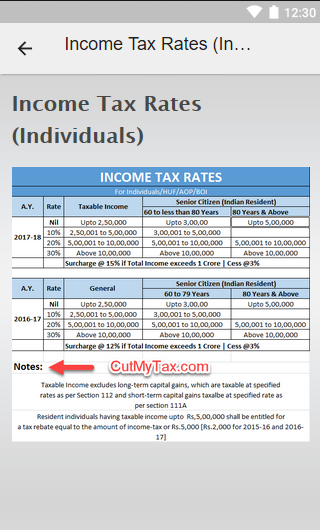 Quick Tax Ready Reckoner- screenshot