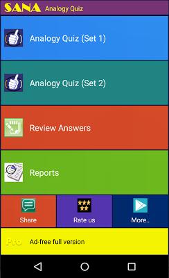 Analogy Quiz - screenshot
