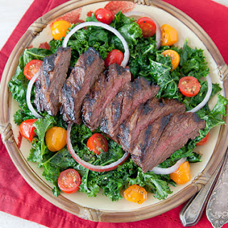 Miso Marinated Skirt Steak with Sauteed Kale Recipe
