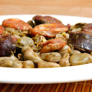 Stewed Sausage and Beans.