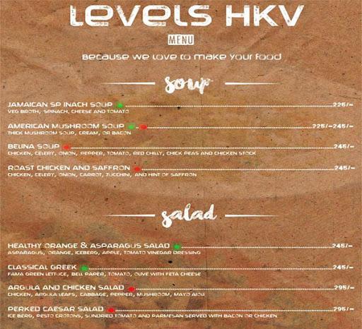 Menu 13 - Levels HKV, Hauz Khas Village, New Delhi