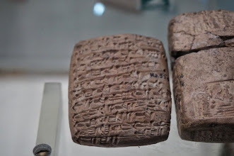 Photo: Contracts written in clay tablets!!