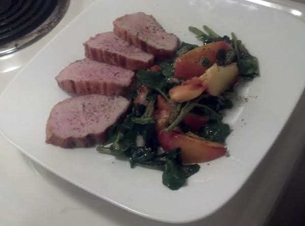 Grilled Pork Tenderloin & Apricot Salad Recipe