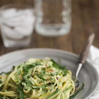 Summer Squash Pasta with Yogurt Sauce
