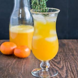 Orange Thyme Mocktail.