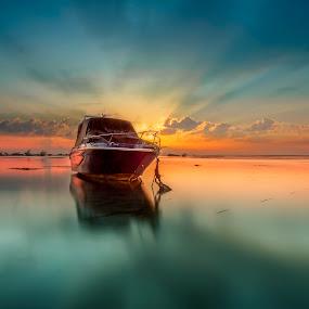 Serene by Ade Irgha - Transportation Boats ( sanur, explorebali, ocean, landscape, boat )