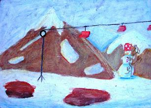 Photo: Умбан Далия, 10 лет    3 место «Живопись» (10-11) Студия Татьяны Белоконенко «Гора Хеврон. Зима в Израиле» (Израиль)