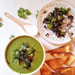 Spinach, Broccoli and Cilantro Soup