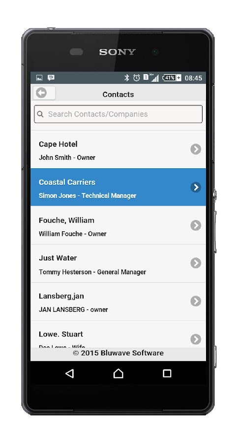 BluWave CRM Mobile- screenshot
