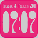 Clock Widget digital 2x2 icon