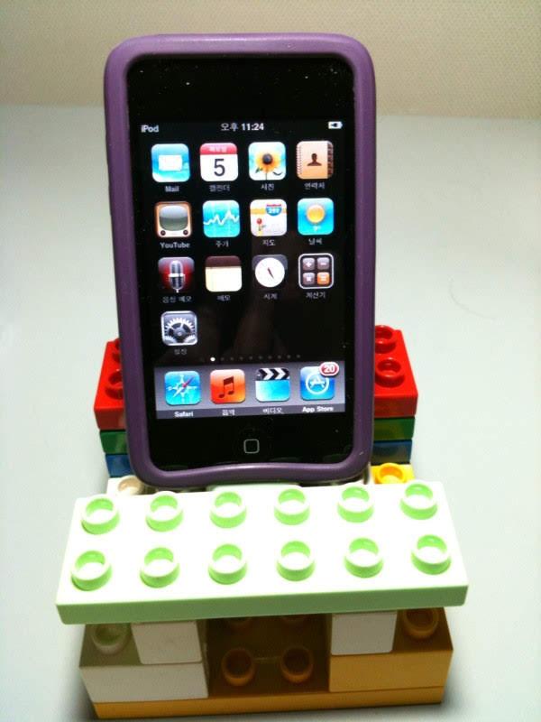 레고로 만든 아이폰 독