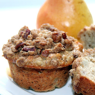 Spiced Pear and Walnut Muffins.