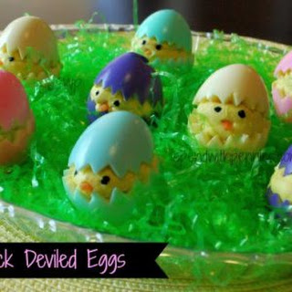 Baby Chick Deviled Eggs.