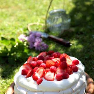 Summer Berry Layered Pavlova.