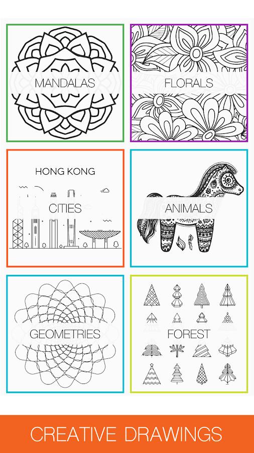 Colorme Adult Coloring Book Screenshot
