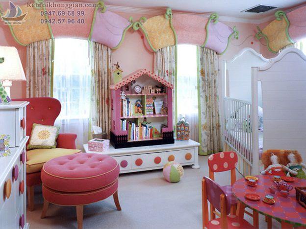 chọn màu phù hợp cho phòng bé