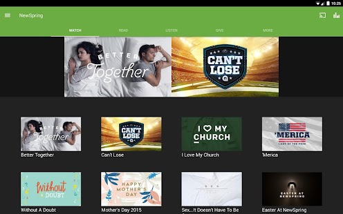 NewSpring Church- screenshot thumbnail