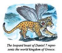 但以理書第7的豹獸代表希臘世界的王國