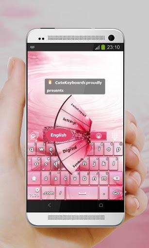 ピンク色 GO Keyboard