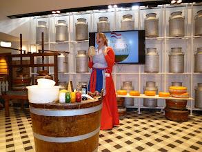 Photo: Explaining the cheese-making process