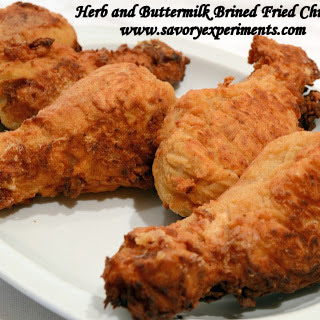 Herb and Buttermilk Brined Fried Chicken
