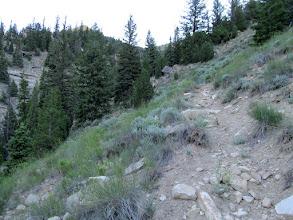 Photo: Still climbing but not as steep