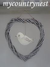 Photo: ghirlanda con uccellino latta, personale