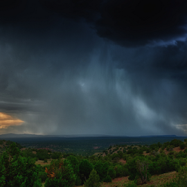 Falling Sky by Matthew Kuiper - Landscapes Weather ( monsoon, summer storms, clouds )