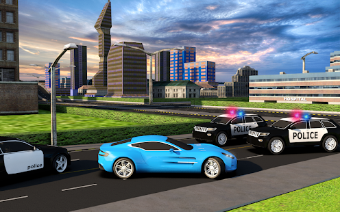 Crime City Police Car Chasing: Racing Simulator 18 - náhled