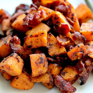 Maple Bacon Sweet Potato Hash.
