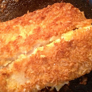 Coconut Crusted Tilapia & Garlic Broccoli