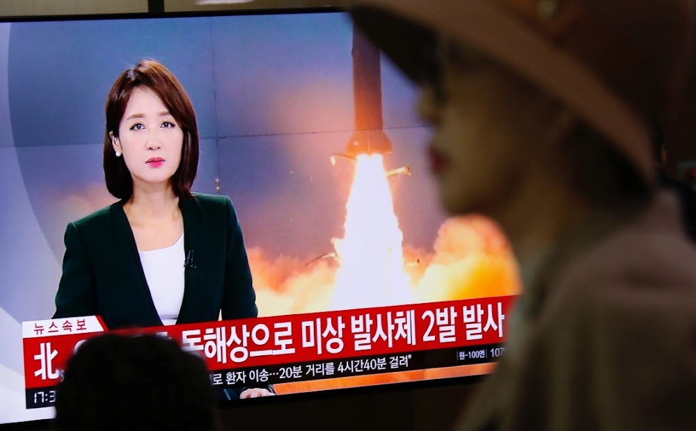 North Korea fires two missiles towards Japan