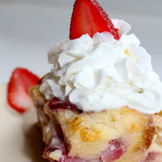 Strawberry Cheesecake Bread Pudding.