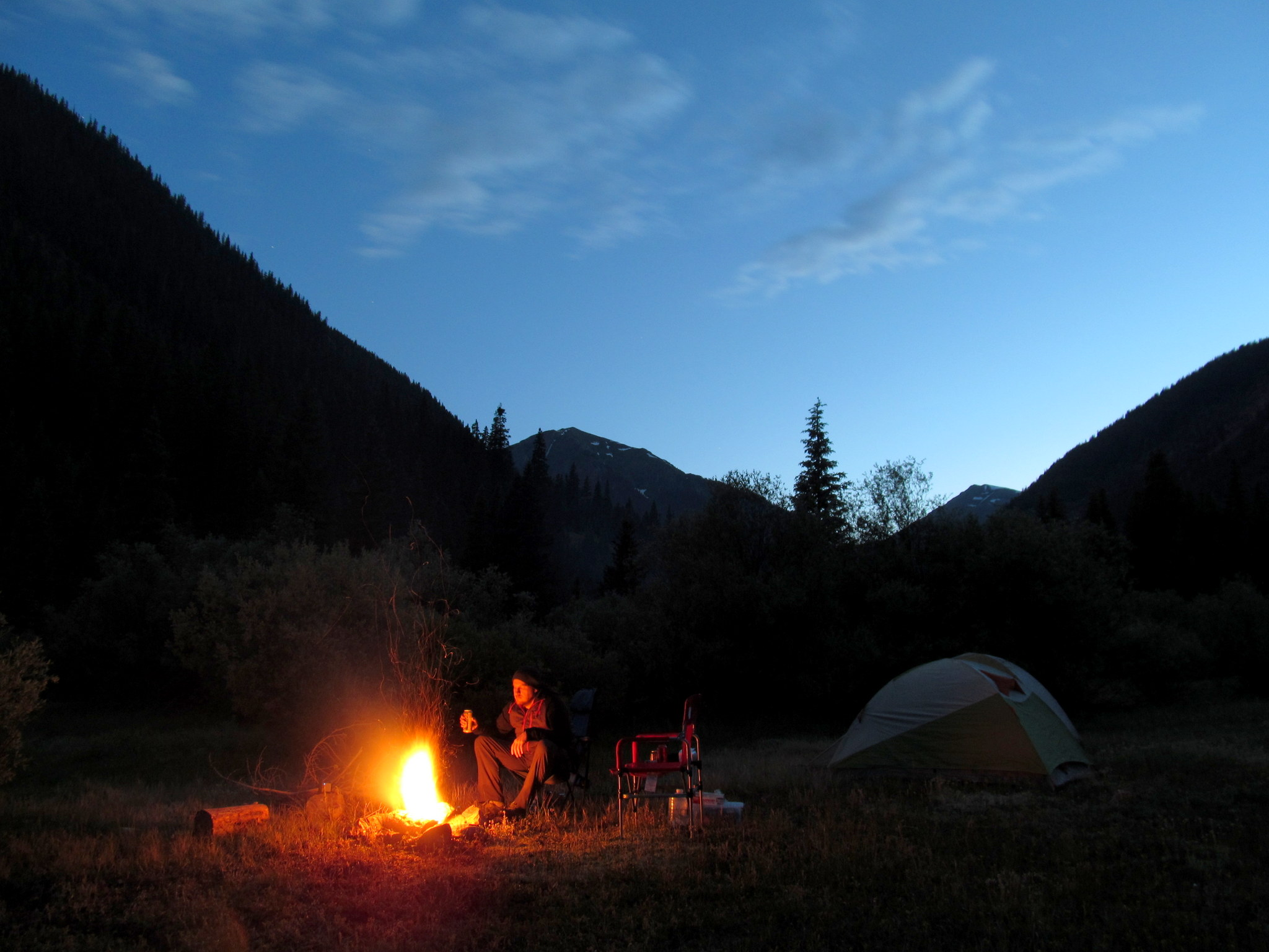 Photo: Camp at dusk