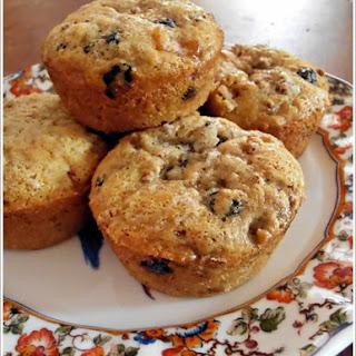 Moist Apricot-Blueberry-Cherry (ABC) Bran Muffins