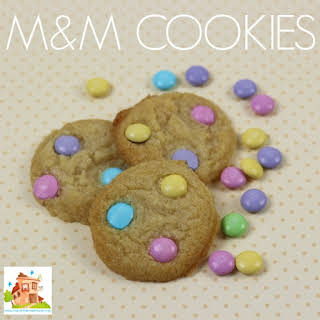 M&M Cookies - Cooking with kids.